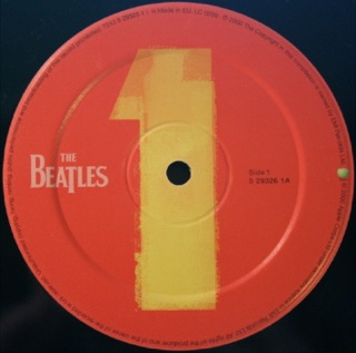 Beatles 1 - vinyl label