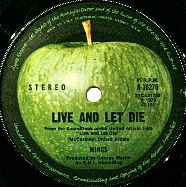 And One On The Red Capital Label Live Let Die Original Soundtrack Recording Contained Music From Both Paul McCartney
