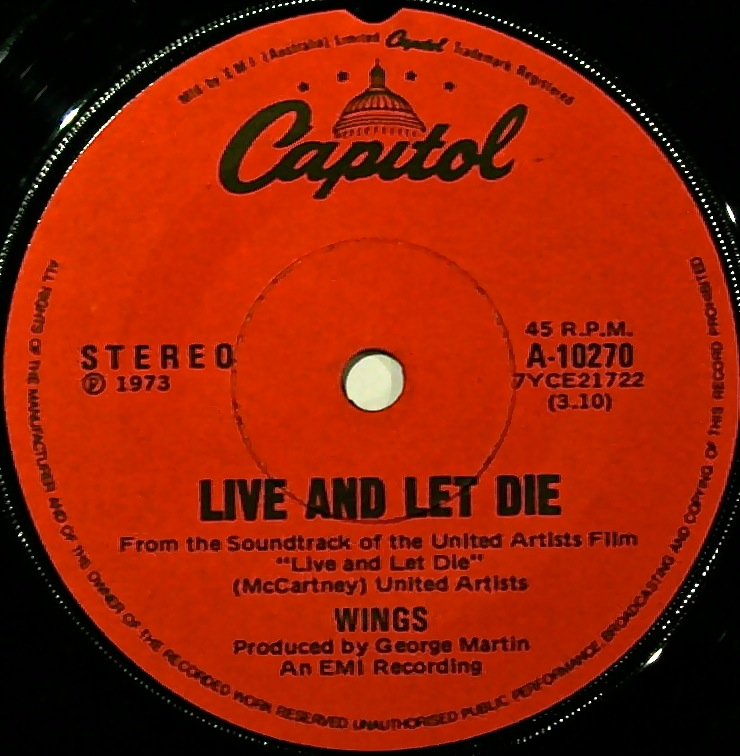 The Live And Let Die Original Soundtrack Recording Contained Music From Both Paul McCartney George Martin Was Released In 1973