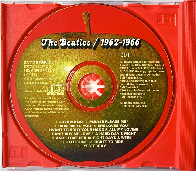 Beatles On Cd 1962 1966 The Red Album Beatles Blog