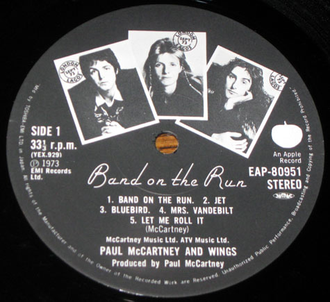 Label Variations Part Five Band On The Run Beatles Blog