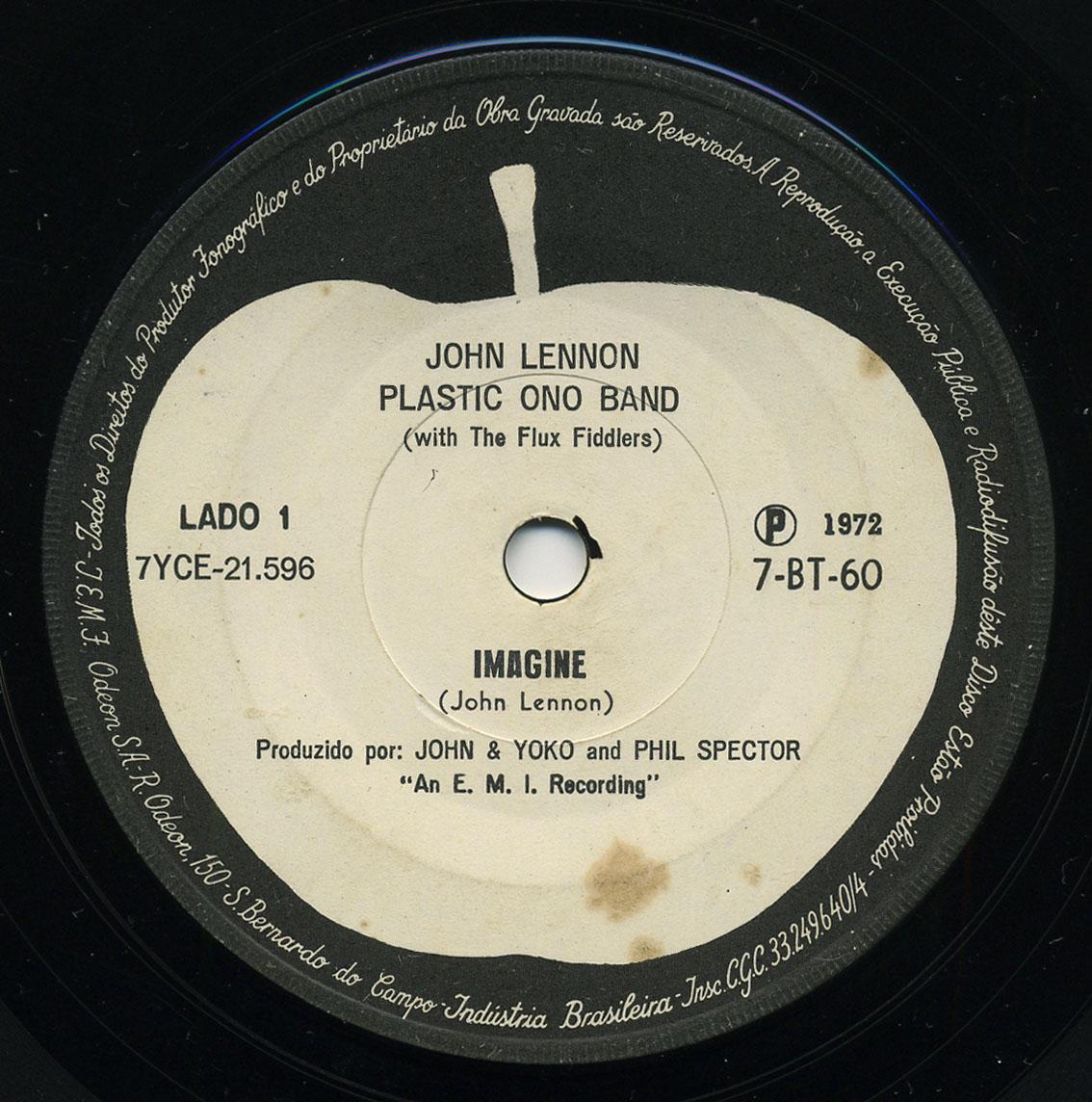 Label Variations Part Eight Lennon S Imagine Single