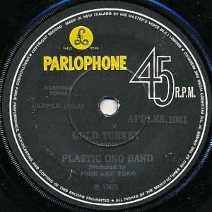 Plastic Ono Band Label 1