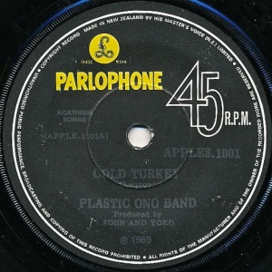 Plastic Ono Band Label 1