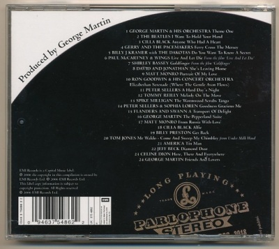 Produced by George Martin Highlights CD Rear