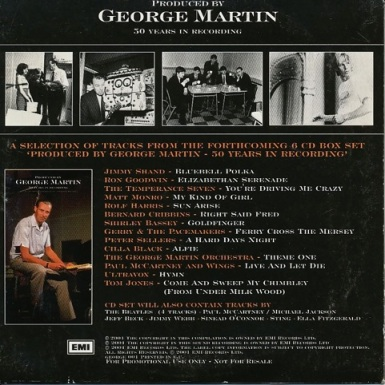 Produced by George Martin CD Promo Rear