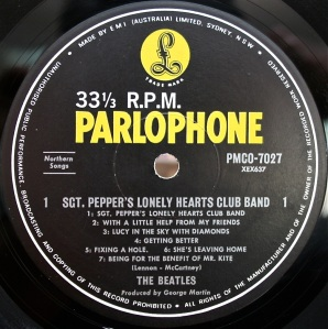 Sgt Pepper label