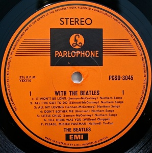 With the Beatles Label