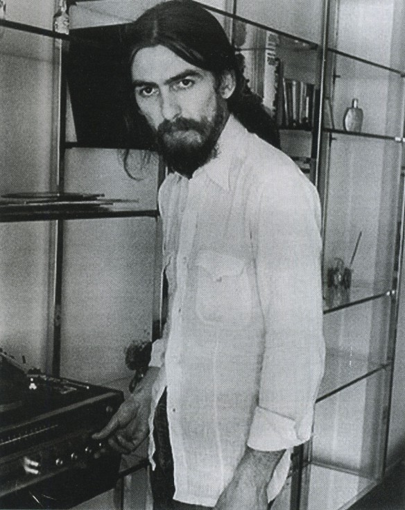 George with Record Player