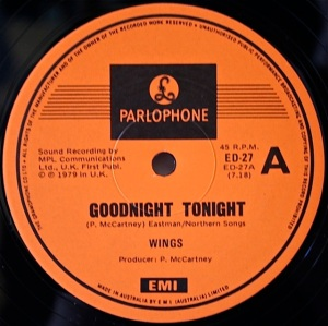 Good Night Tonight Parlo label