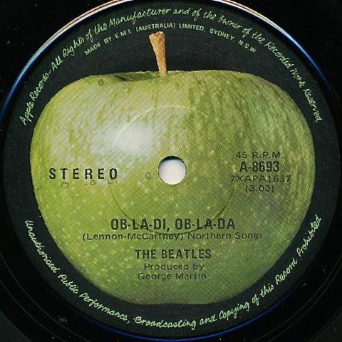 Australian Singles Beatles Blog