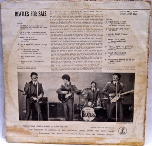 Beatles For Sale Rear