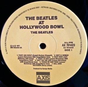 Hollywood Bowl Label