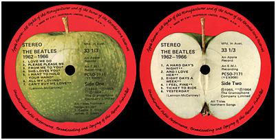 Beatles Red Aust Apple Label