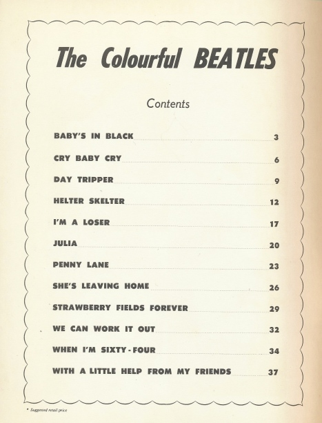 Colourful Beatles index