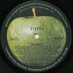 The Beatles Aust Label