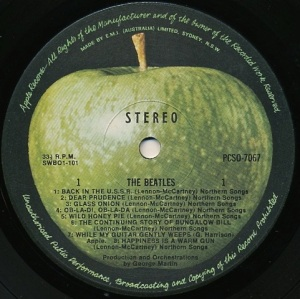 The Beatles Aust Label