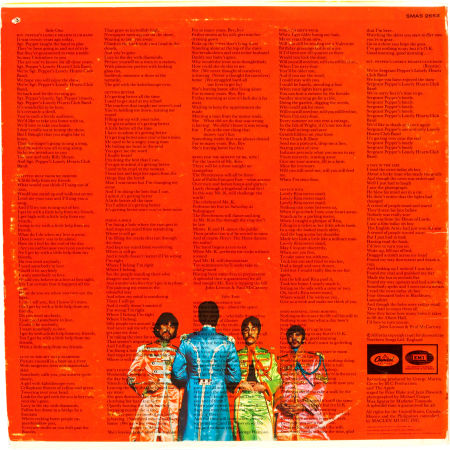 Sgt Pepper rear cover