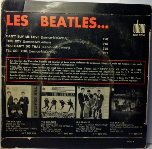 Les Beatles rear
