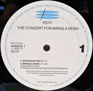 Concert for Bangladesh label