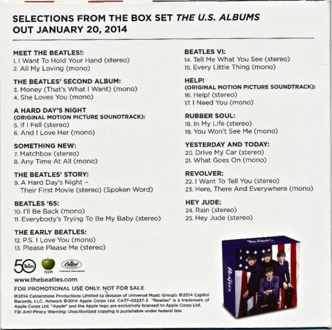 U.S. Albums Promo rear