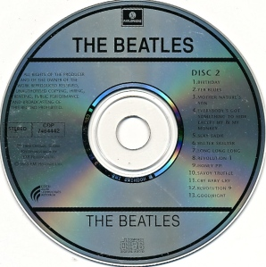 Beatles White Aus Disc 2