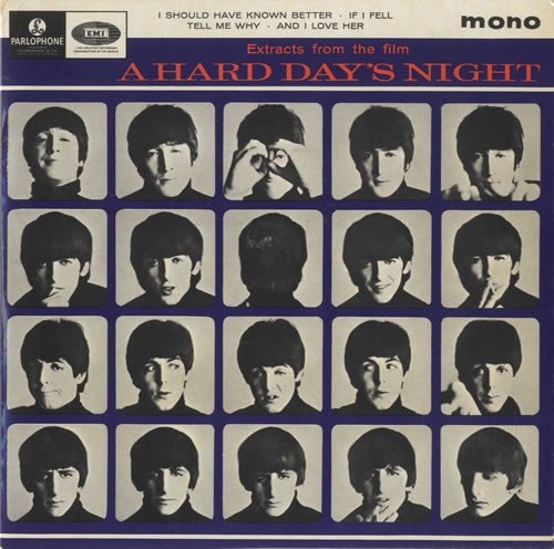 The+Beatles+-+A+Hard+Day's+Night+No.+1+EP+-+1st+-+7%22+RECORD-500878