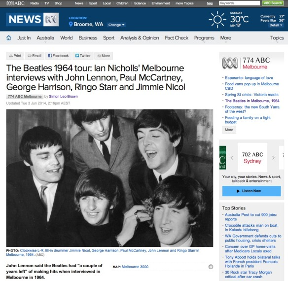 Beatles and Ian Nicholls