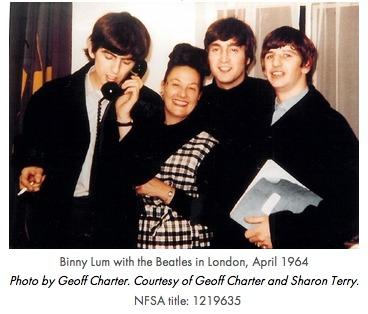 Binny Lum with the Beatles