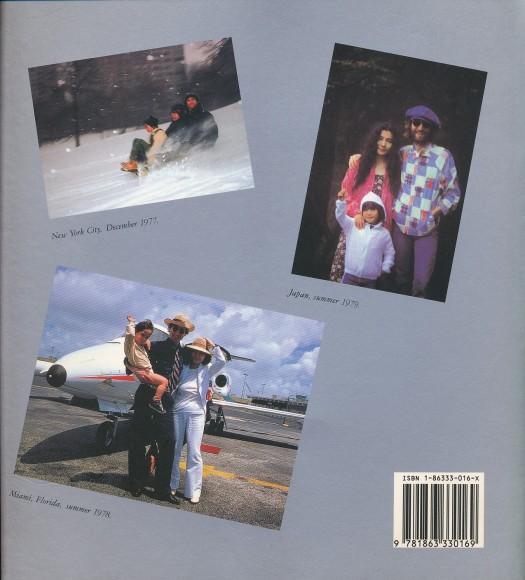 Lennon Family Album rear