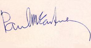 Paul autograph