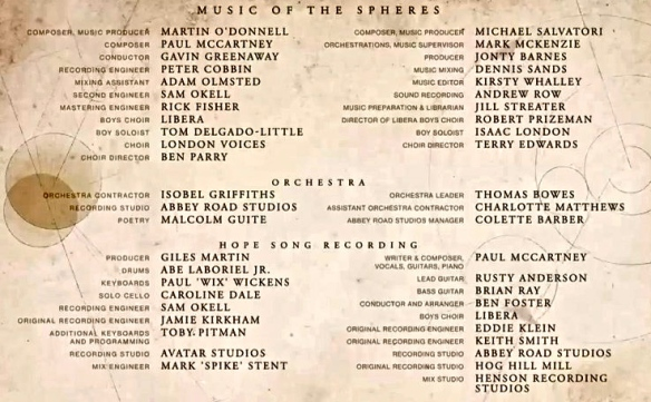 McCartney Destiny-Hope credits
