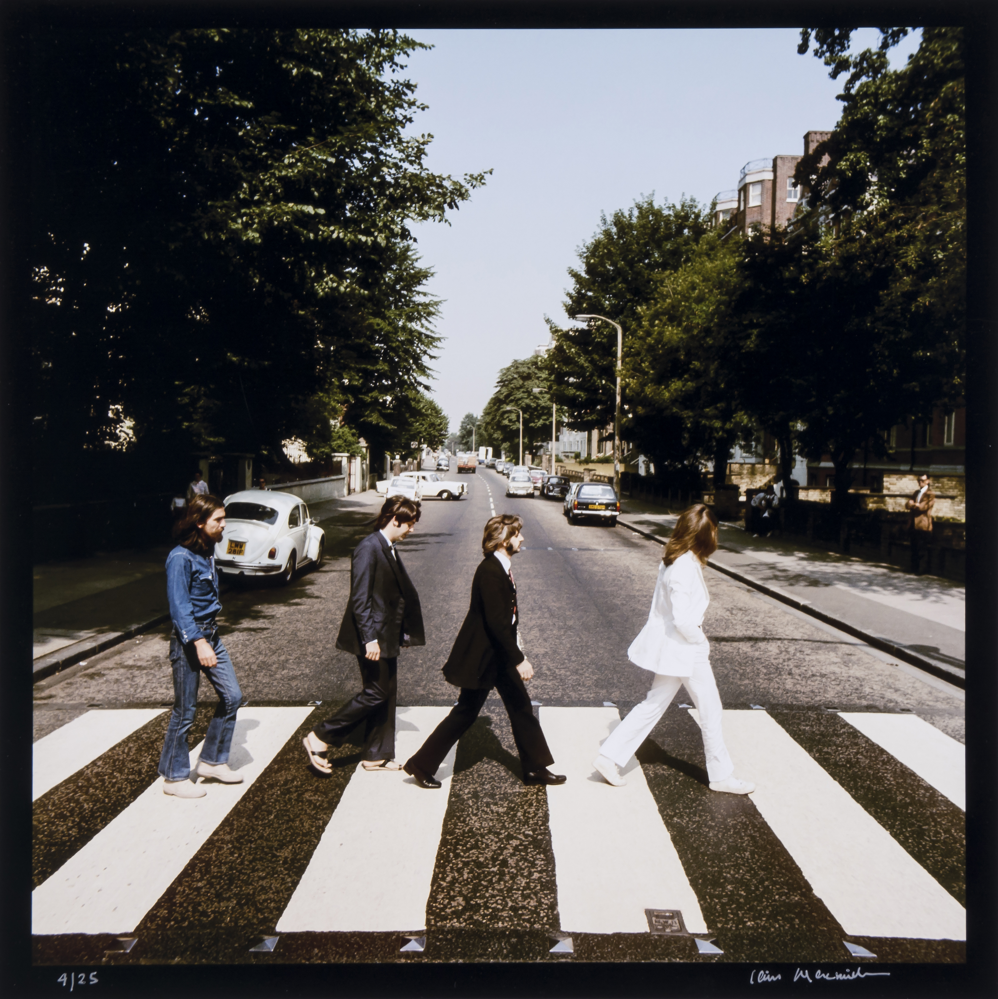 Complete set of beatles abbey road photos to be auctioned for Beatles tattoo abbey road