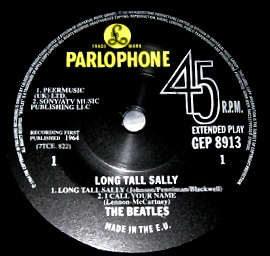 LTS Beatles RSD label