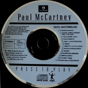 Press to Play label