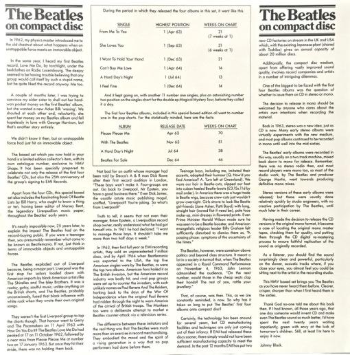 Beatles on CD fact