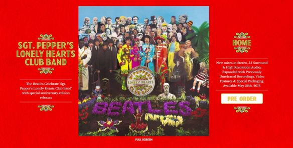 Sgt Pepper 50th Anniversary Mini Site Press Release And