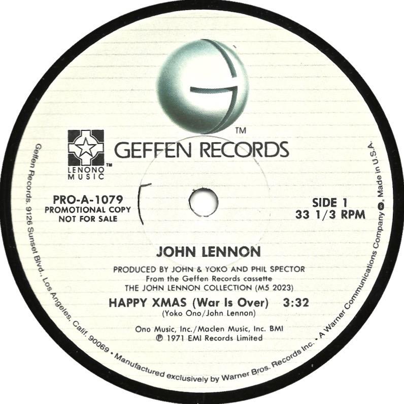 Label Variations Part Eleven – Happy Xmas (War is Over) | Beatles Blog